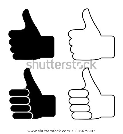 Black silhouette of hand in thumbs-up gesture Stock photo © evgeny89