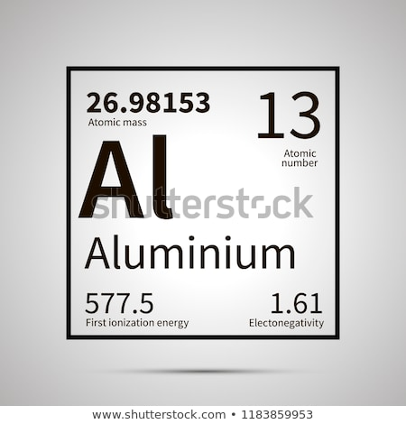 Aluminium chemical element with first ionization energy, atomic mass and electronegativity values ,s Stock photo © evgeny89