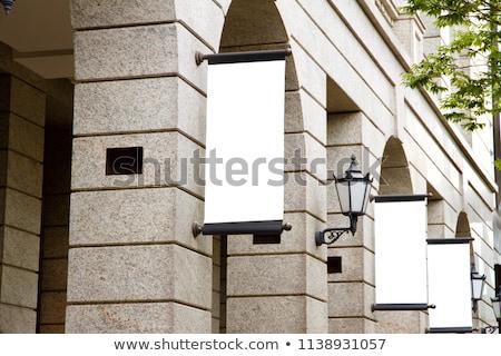 通り ポール 広告 2 風化した ストックフォト © albund