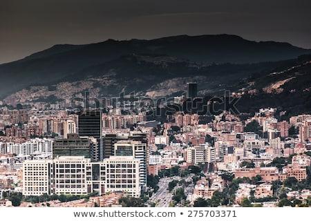 Wohn- Gebäude Bogota Kolumbien Ansicht Stadt Stock foto © boggy