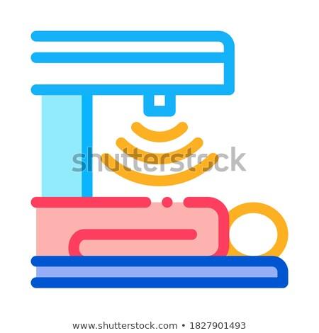 Menselijke maag scanner icon vector schets Stockfoto © pikepicture