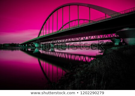 Pink arch bridge Stock photo © Ansonstock