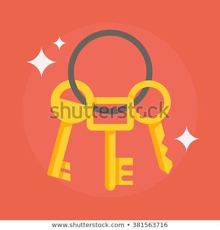 Tuşları anahtar dört beyaz Stok fotoğraf © pongam