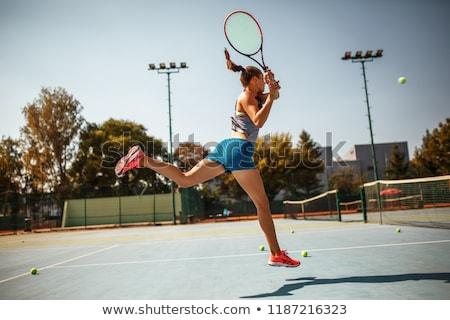 mulher · vôlei · bola · belo - foto stock © dash