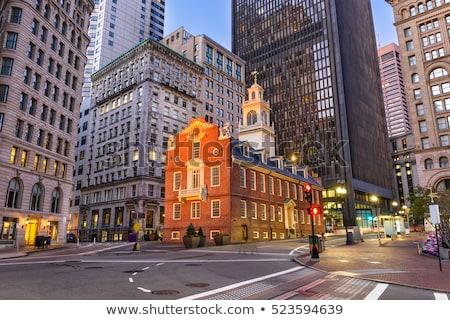 Бостон · старые · дома · Массачусетс · США · путешествия - Сток-фото © elenaphoto