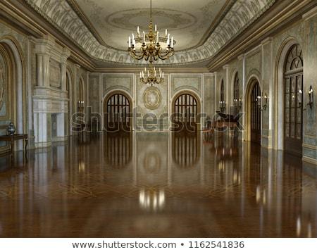 богатых украшенный дворец потолок детали Бухарест Сток-фото © smithore