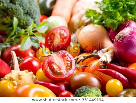 Grupo legumes frescos fruto salada pimenta vegetal Foto stock © Pixelchaos