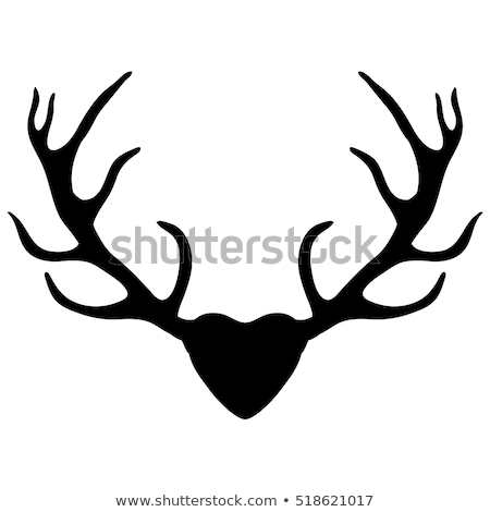 deer with heart antlers, vector Stock photo © beaubelle