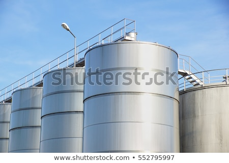detail of a silo of an industrial plant stock photo © visdia