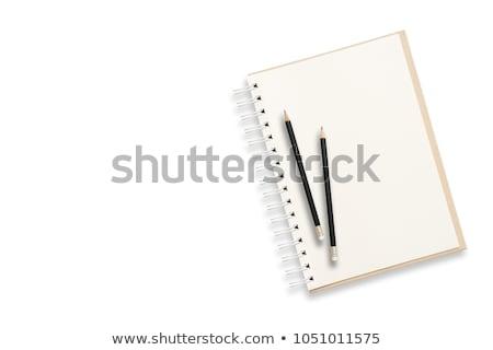 Notepad and pencil on the white background  Stock photo © yoshiyayo