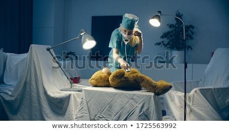 外科医 ヒーリング テディベア 顔 医師 病院 ストックフォト © photography33