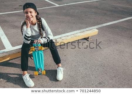 Skater teen girl Stock photo © aremafoto