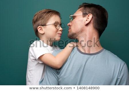 père · en · fils · lunettes · de · soleil · famille · père · chapeau - photo stock © photography33