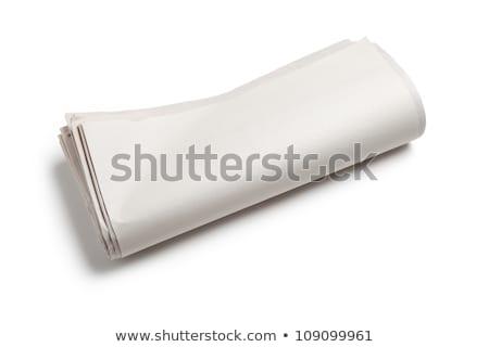 krant · rollen · witte - stockfoto © devon