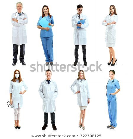 young woman and young man in a laboratory Stock photo © photography33
