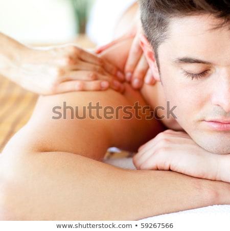 привлекательный · человека · массаж · Spa · центр - Сток-фото © stockyimages