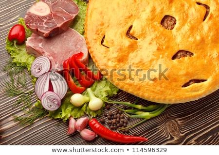 Fydzhin Meat Pie, Vegetables Stock photo © Fisher