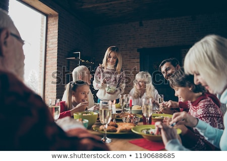 couple on a family dinner drinking champagne stock photo © photography33