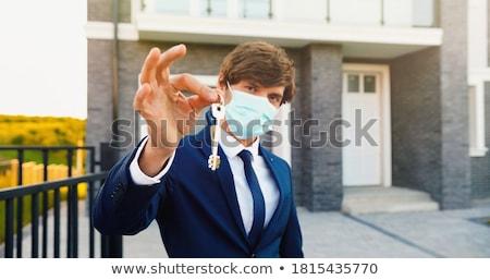 agent · sleutels · uitverkocht · teken · huis · makelaar - stockfoto © johanh