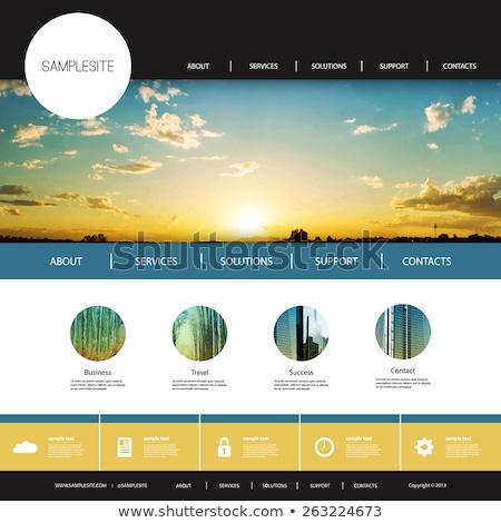 Web site design template, vector. Stock photo © Hermione