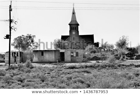 Barren Old Tree in Front of White Church Stock photo © ildi