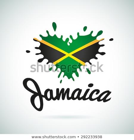 Jamaica · térkép · keretek · fővárosok · fehér · diagram - stock fotó © perysty