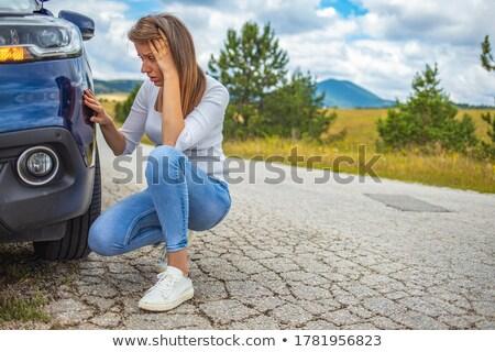 femme · anxiété · personnelles · défier · bleu - photo stock © photography33