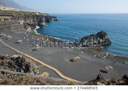 Atlantic volcanic black coast in la Palma Stock photo © lunamarina