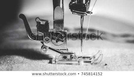 garen · naaien · naalden · geïsoleerd · witte · borduurwerk - stockfoto © backyardproductions
