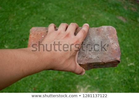 Kobiet kobieta dziewczyna budowy pracy niebieski Zdjęcia stock © photography33