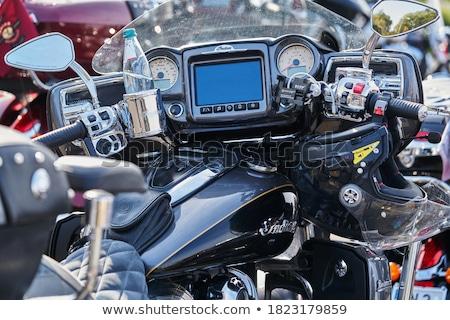 Motorfiets fiets race motor reflectie Stockfoto © tshooter