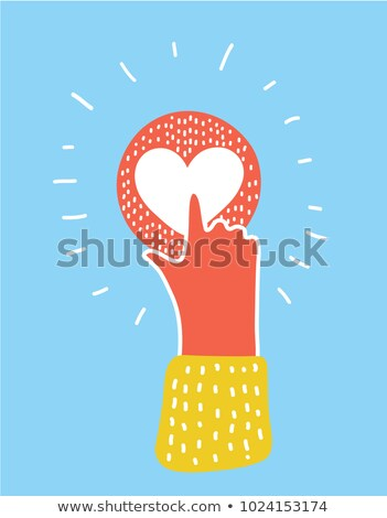 Pressed heart button Stock photo © MONARX3D