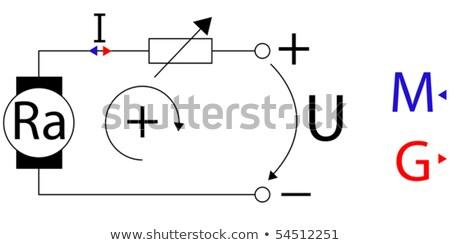 Gép rajz absztrakt vektor művészet illusztráció Stock fotó © robertosch