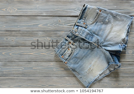 модный синий джинсовой шорты женщины моде Сток-фото © Andersonrise