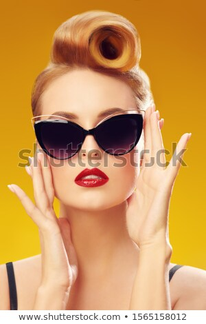retro pinup with sunglasses Stock photo © godfer