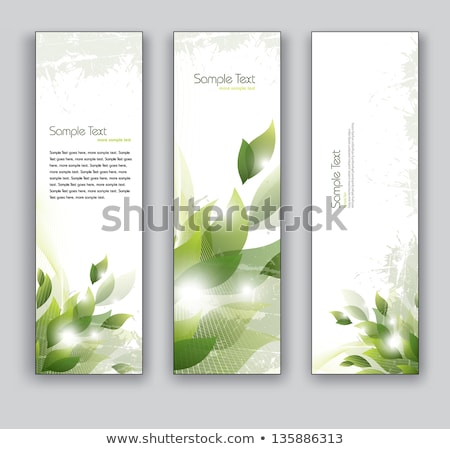 Három függőleges bannerek átlátszó virágok tavasz Stock fotó © 0mela