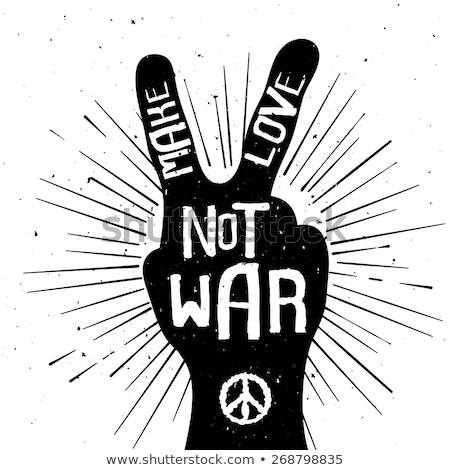 teken · terrorisme · vrede · Geel · stad · tekst - stockfoto © deyangeorgiev