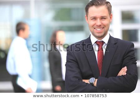zakenman · permanente · handen · gevouwen · foto - stockfoto © feedough