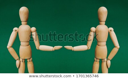 Deux marionnette bois couple bois bras Photo stock © compuinfoto