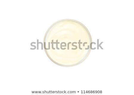 Foto stock: Blanco · salsa · tazón