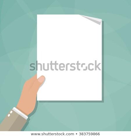 Rajz kéz tart papír rajz művészet Stock fotó © indiwarm