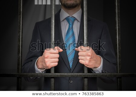 Man behind the bars Stock photo © AndreyKr