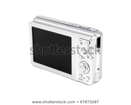 вид сзади цифровой фото камеры изолированный белый Сток-фото © Grazvydas