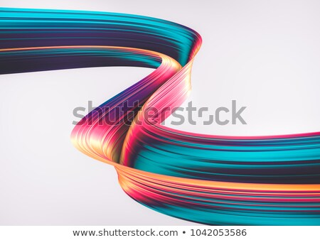 Colorato nastro forme abstract business Foto d'archivio © HypnoCreative