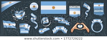 Vektor Argentína vidék szett bannerek üzlet Stock fotó © gubh83