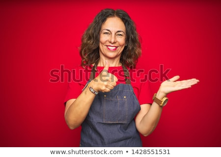 volwassen · chef · tonen · teken · portret - stockfoto © wavebreak_media