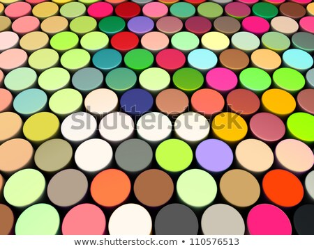 3d beveled cylinder shape in multi rainbow color  Stock photo © Melvin07