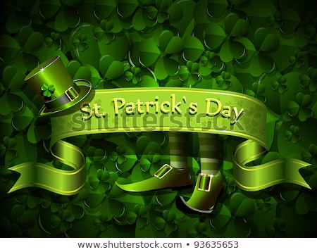 abstract st patricks backrgound with shoes Stock photo © rioillustrator