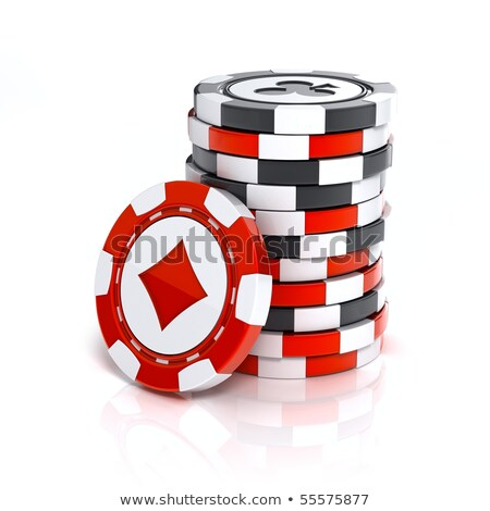 small stack of red poker chips stock photo © discovod