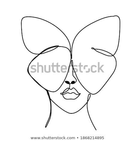 Lata kobieta streszczenie kobiet portret piękna Zdjęcia stock © tolokonov